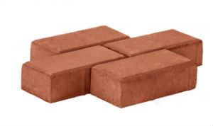 Тротуарная плитка Брусчатка 200x100x60